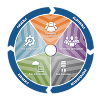 A guiding principle of the NIH Strategic Plan for Data Science, and the approach of the ODSS, is that all biomedical research data should adhere to FAIR principles. This means data should be findable, accessible, interoperable, and reusable (FAIR).