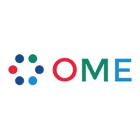 Open Microscopy Environment Logo. OMERO is client-server software for managing, visualizing and analyzing microscopy images and associated metadata.