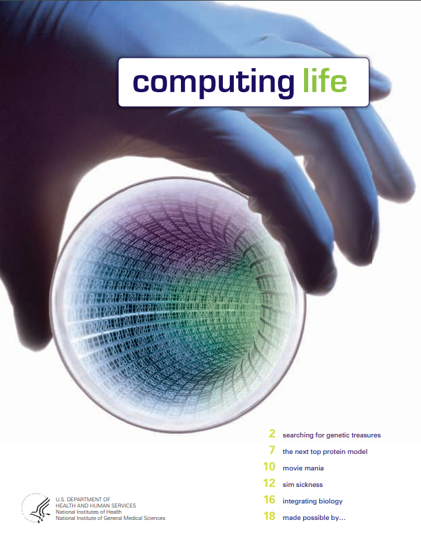 The cover of Computing Life booklet.
