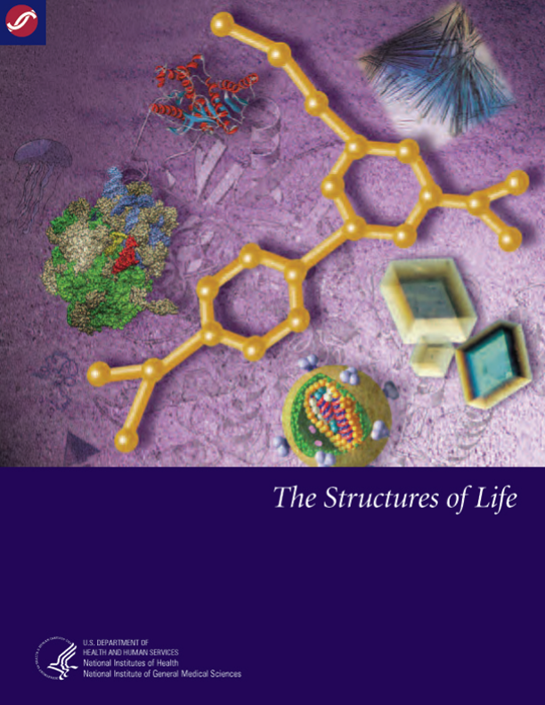 The cover of The Structures of Life booklet.