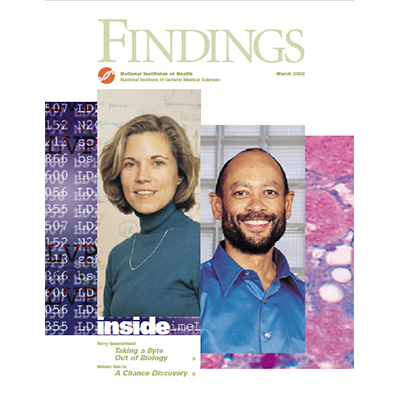 Findings Magazine Cover, March 2002.